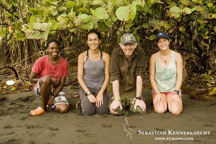 Jizel Miles, Eleonore Hachemen, Ian Thomson, and Eleonore Hachemen, Coastal Jaguar Conservation Project, Tortuguero National Park, Costa Rica